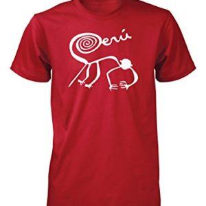 Hot4TShirts-Mens-Nazca-Lines-Monkey-Marca-Peru-T-Shirt-0